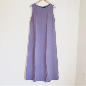 Eileen Fisher 100% Silk Sleeveless Maxi Dress M